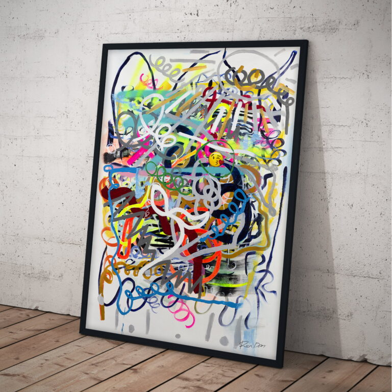 social modern contemporary art on canvas by ron deri