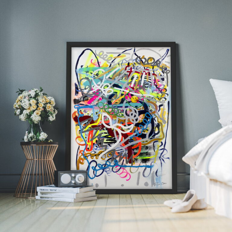 modern art on canvas for sale by ron deri