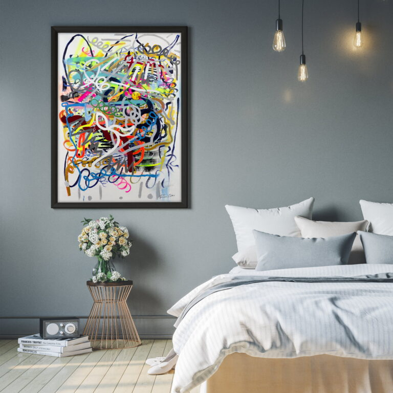 abstract line work colorful lines by ron deri