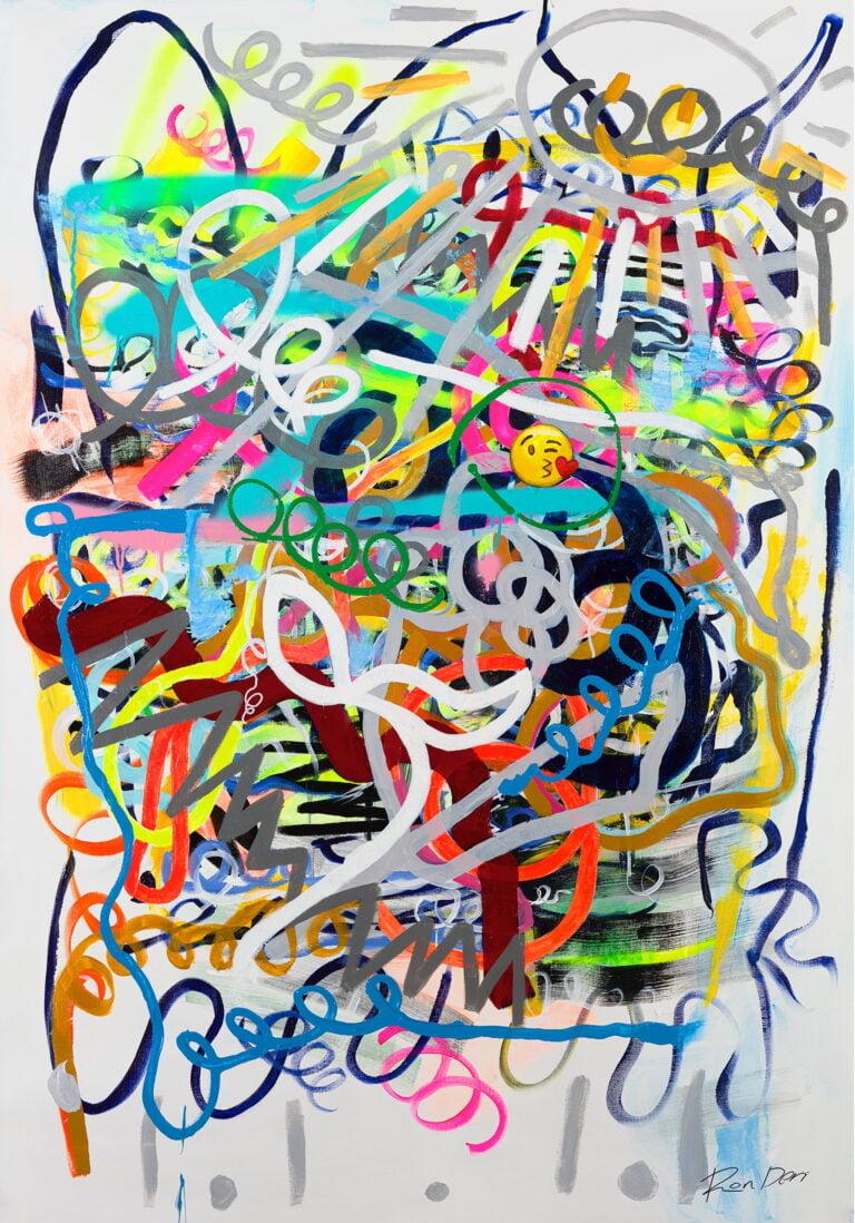 social abstract art print visualization image