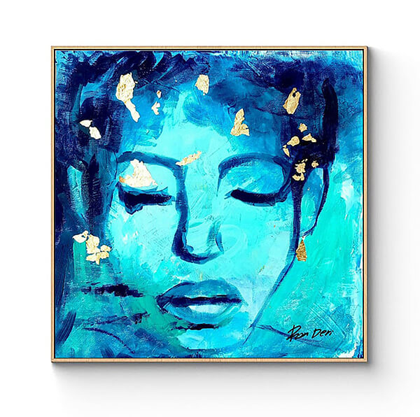 woman-painting-print-blue-art-ron-deri