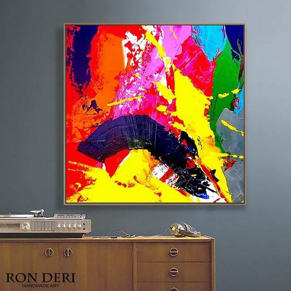 painting on canvas, bathroom wall art, livingroom decor, contemporary art, extra large painting, large artwork, kitchen decor, living room wall art, large wall art
