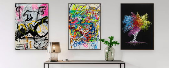 Abstract art prints - decorate your home on a budget with art prints