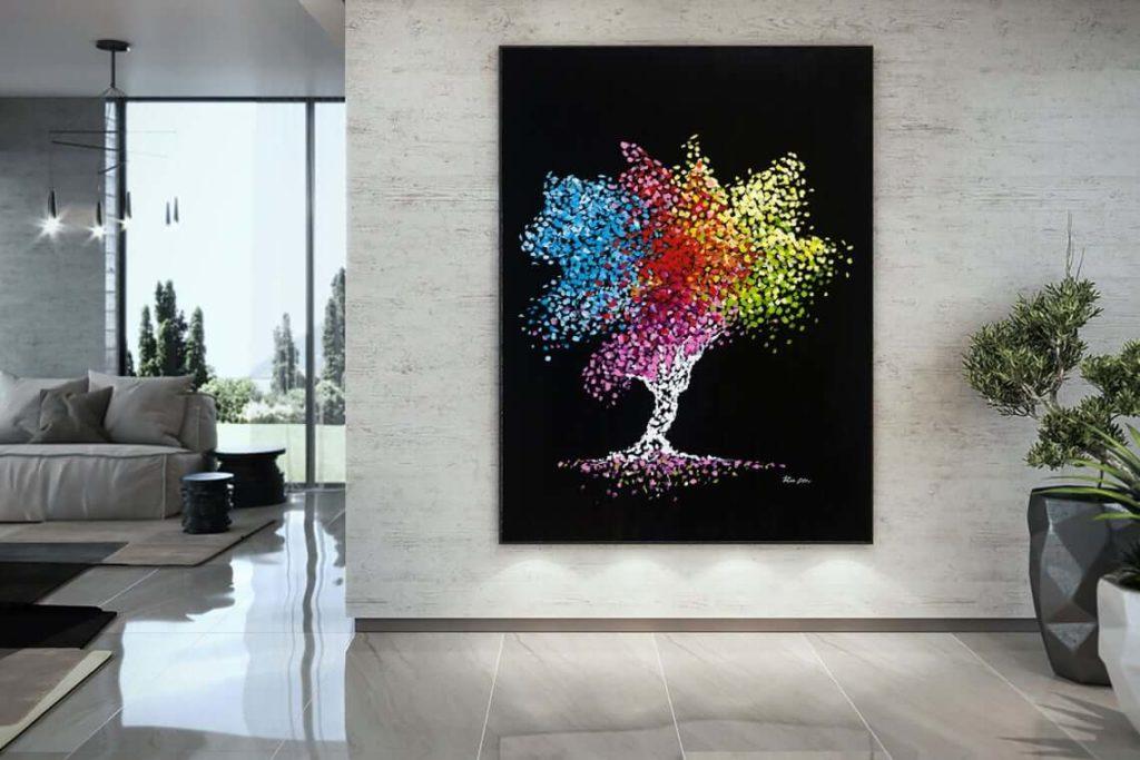 Abstract wall art print, Tree of life, Home decor