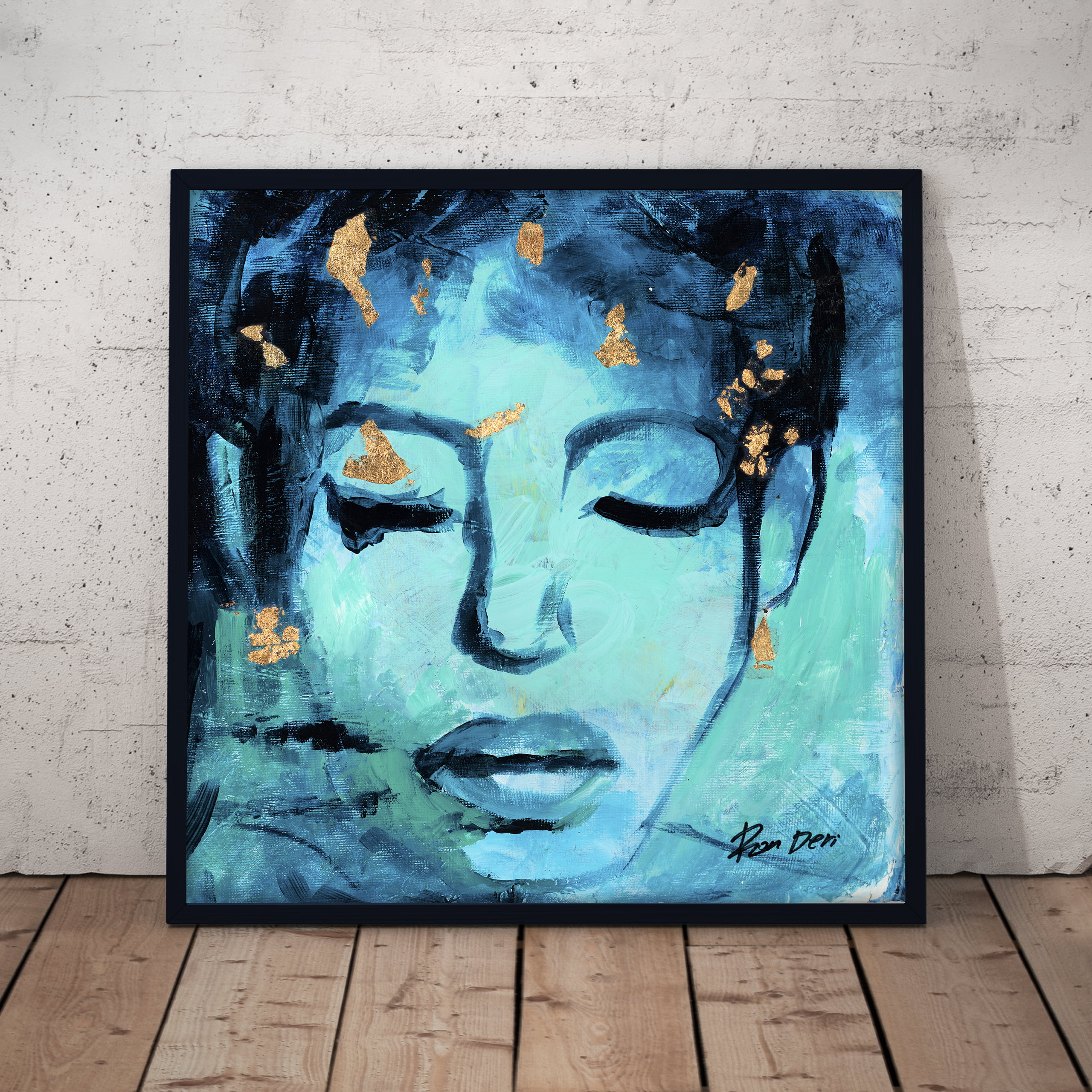 believe woman face abstract portrait art print by ron deri