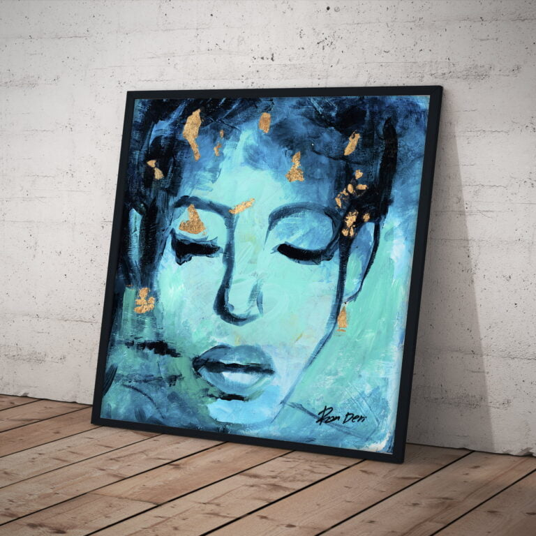 believe abstract art female face canvas print by ron deri