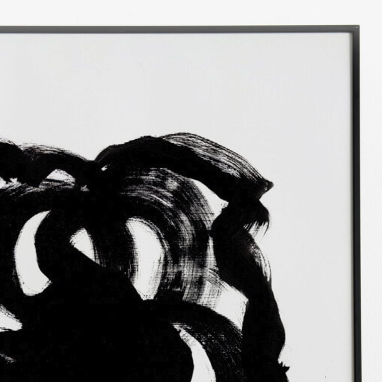 black and white abstract art print - stain 3 - top right