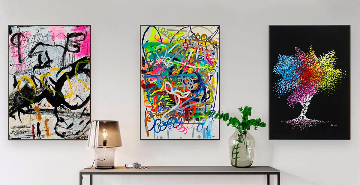 Abstract art prints for any budgets! for use in home decor or office decor