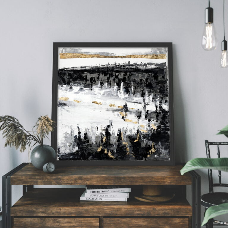 black white and gold nature large canvas wall art by ron deri