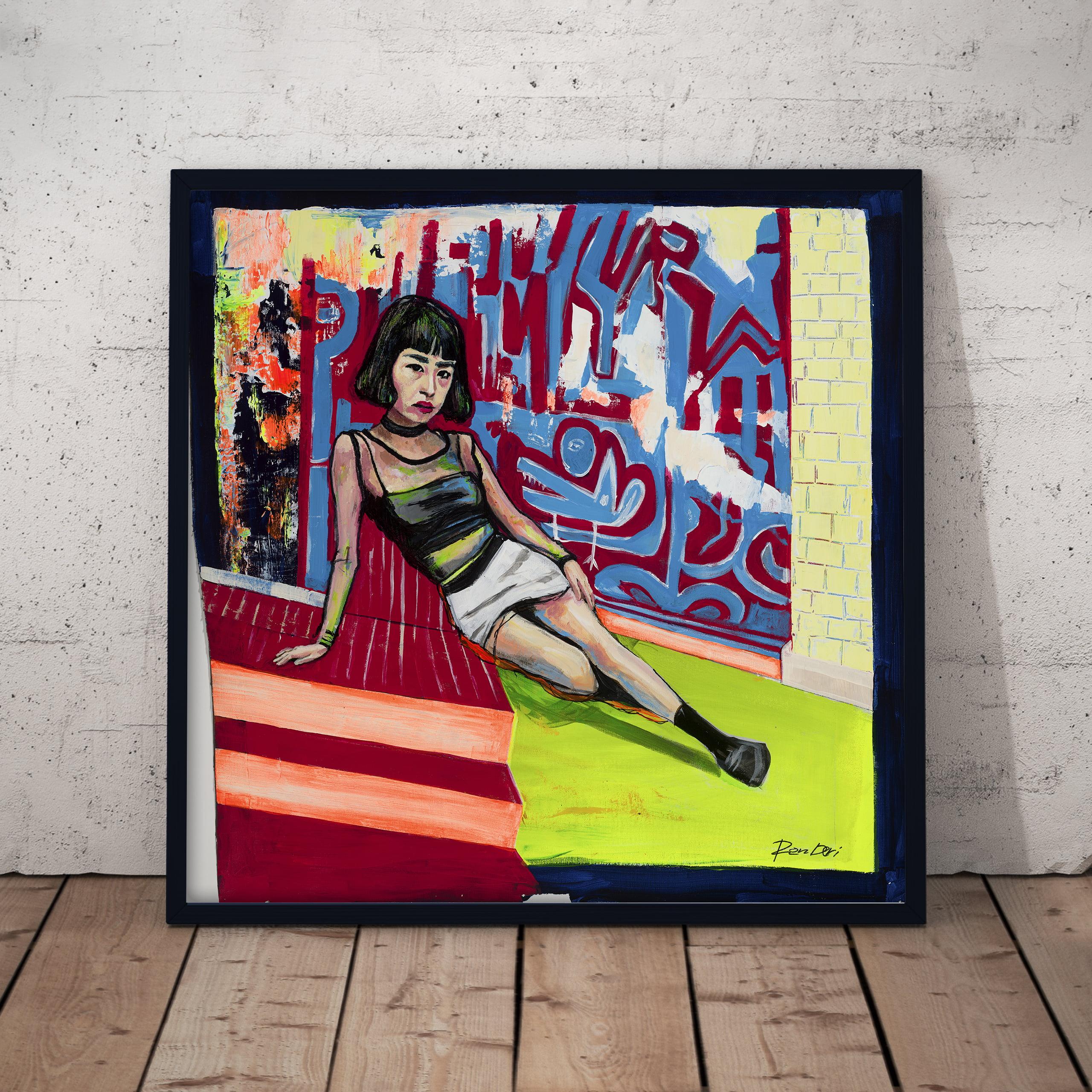 lady punk girl woman art print by ron deri