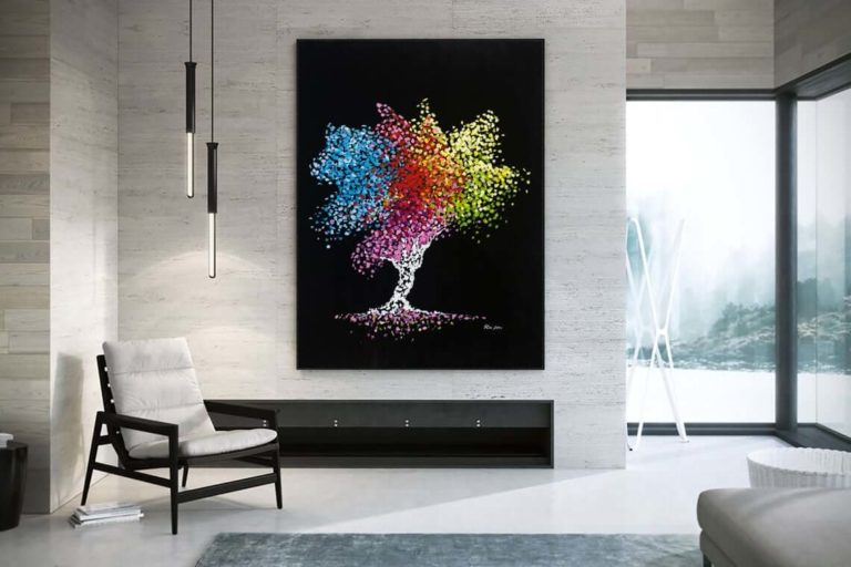 Tree of life, Abstract art print on canvas, Contemporary modern wall art for home decor