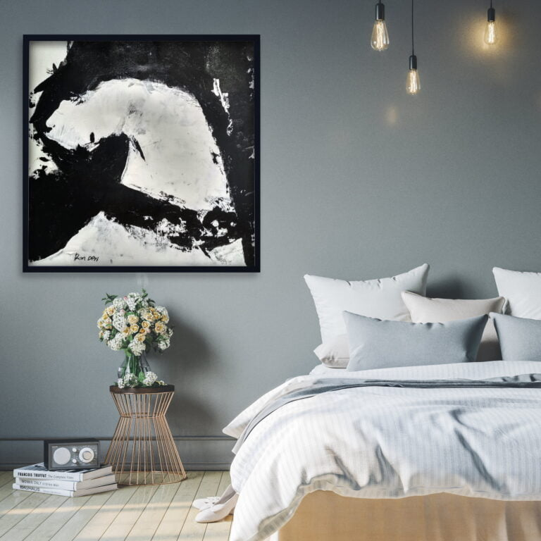 black and white home decor art