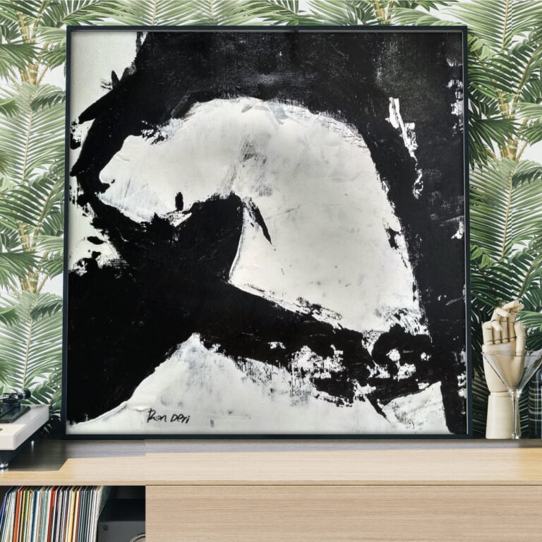 black and white modern wall art by ron deri