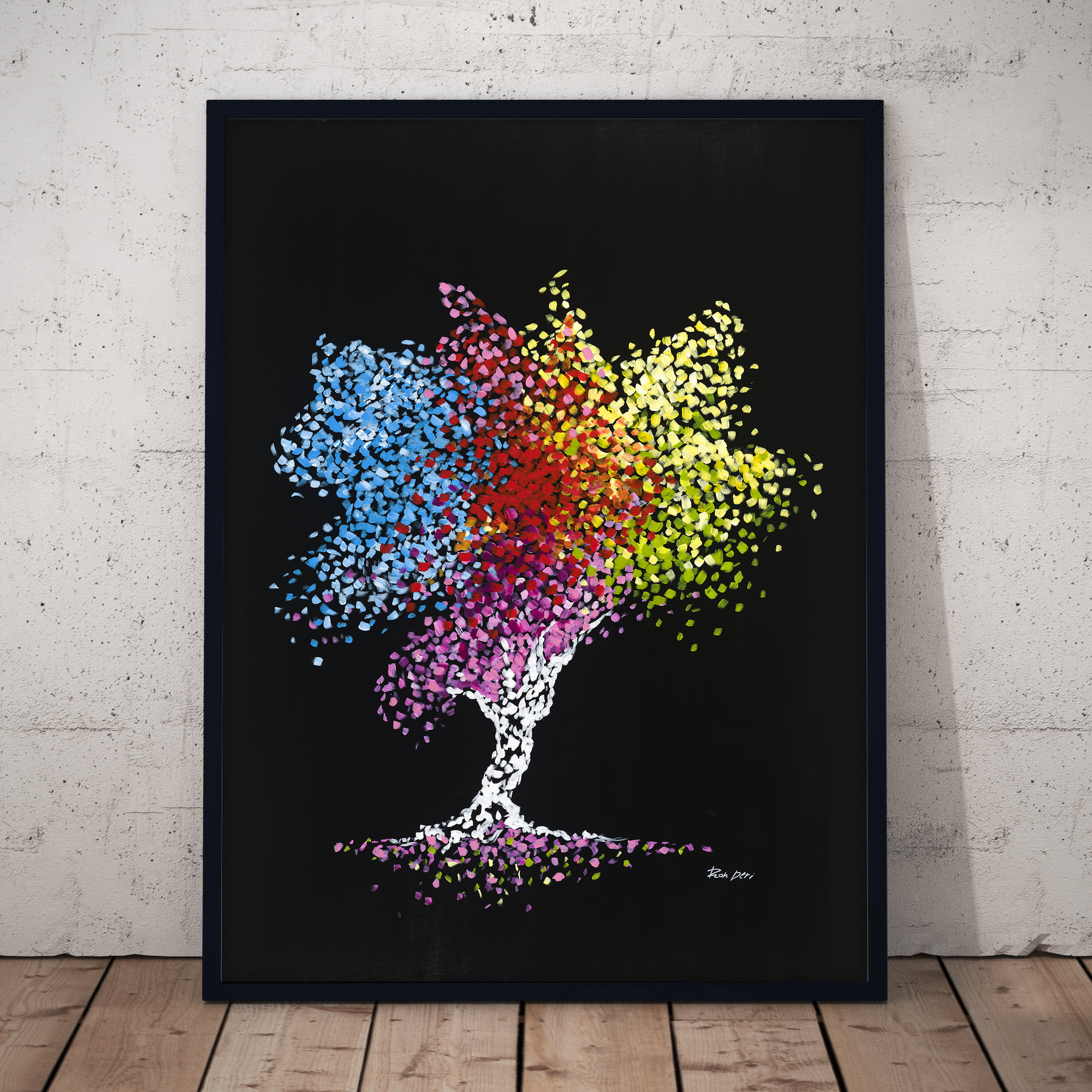 tree of life abstract art print by ron deri