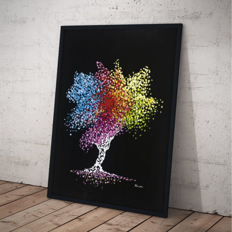 tree of life modern art - abstract print by ron deri