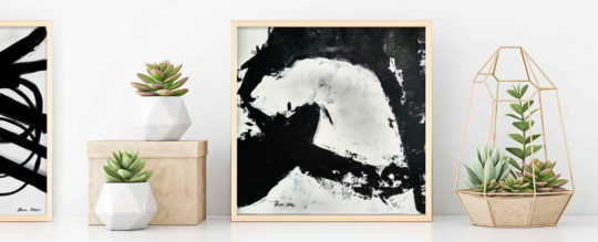 Black and White abstract art for sale by Ron Deri