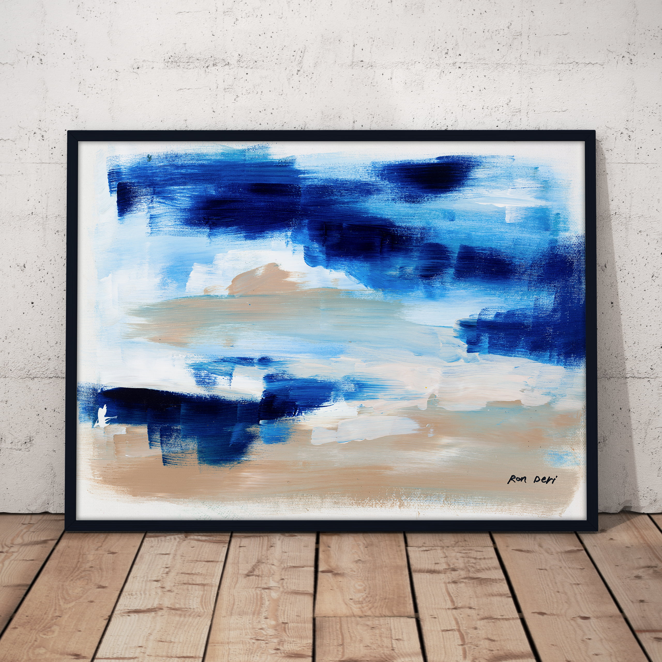 cloudy abstract art print by ron deri