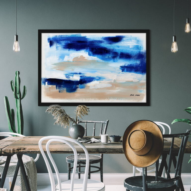 blue skies and clouds canvas wall art by ron deri