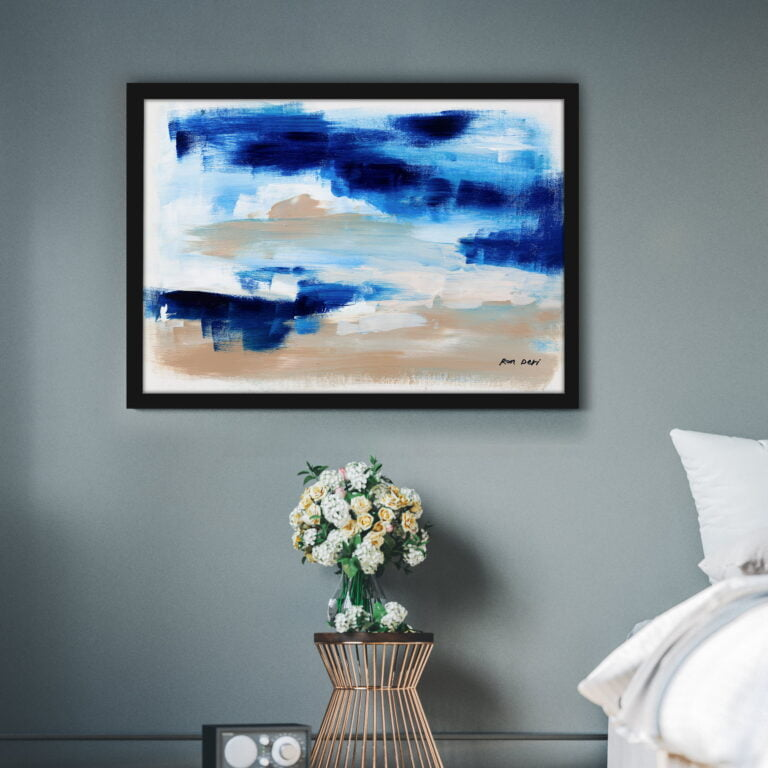 clouds on blue skies contemporary art for sale by ron deri