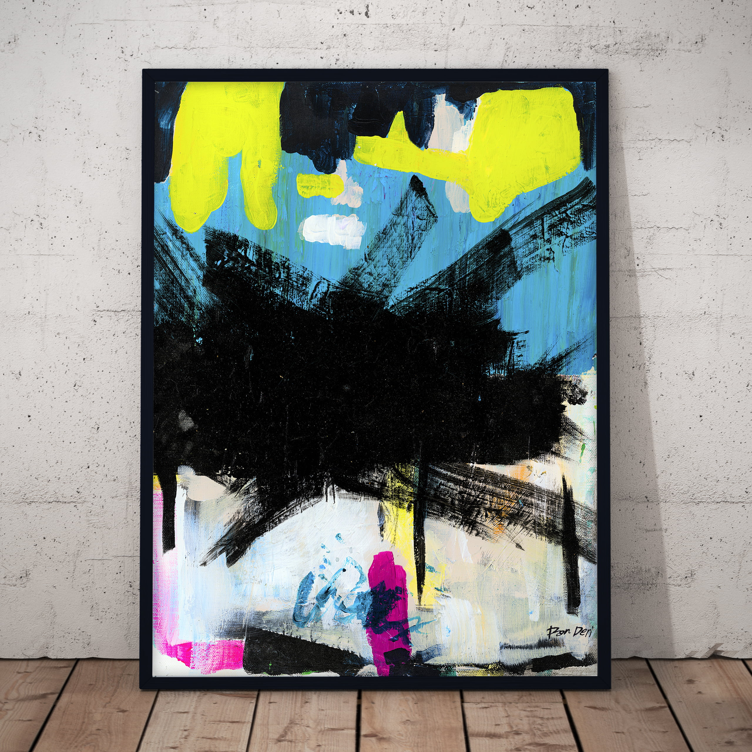 loft new york style modern abstract art by ron deri