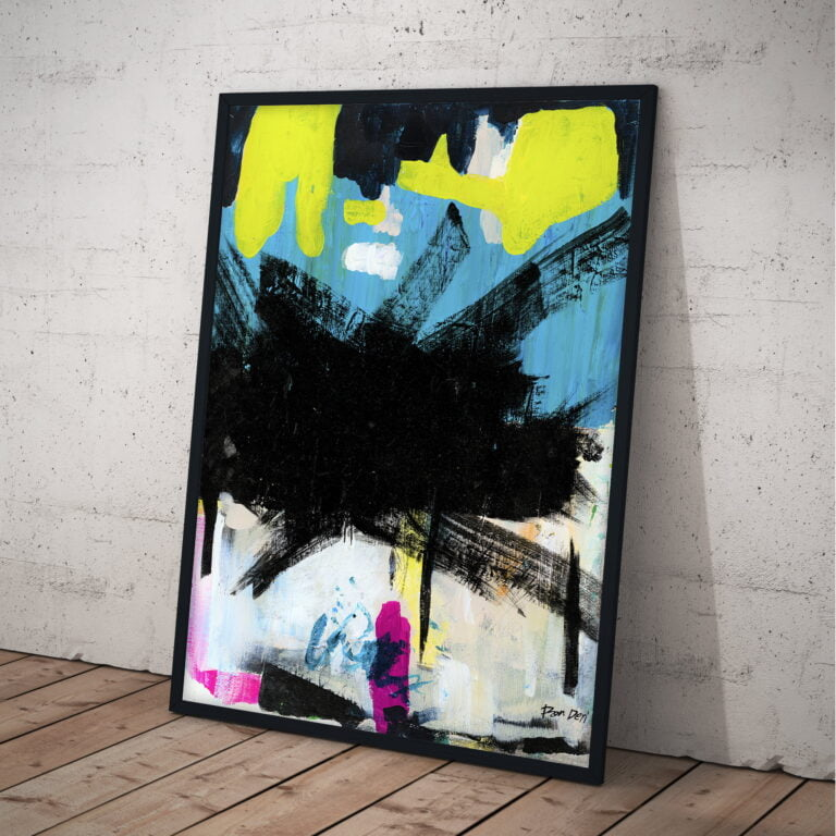 colorful abstract art print for sale by ron deri