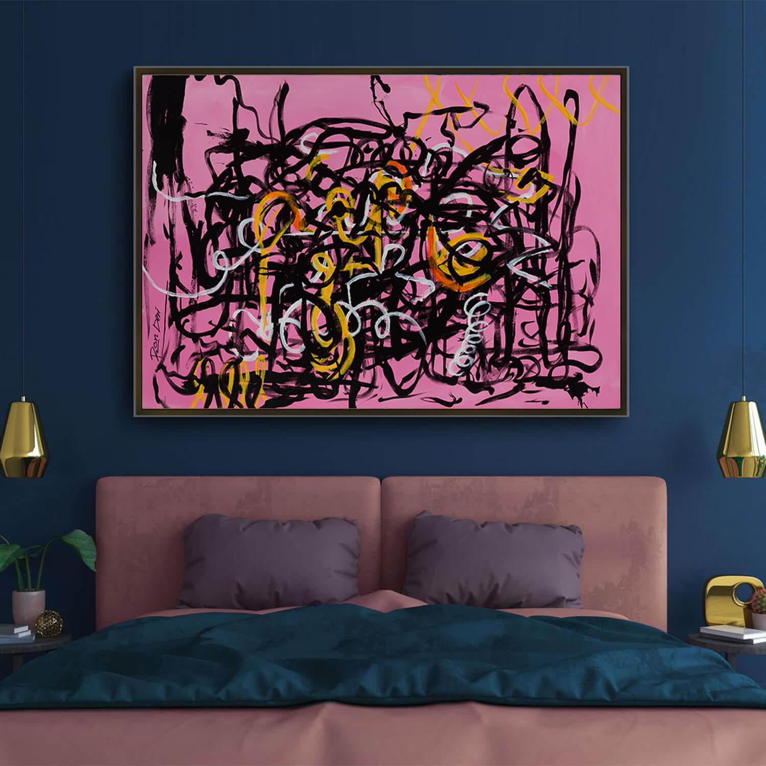 Chaos Ii Pink Abstract Artwork Print For Sale Ron Deri Abstract Art