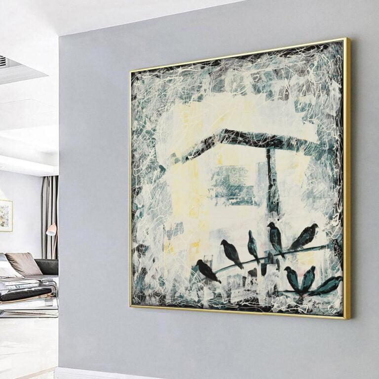 birds contemporary abstract wall art for home decor by ron deri