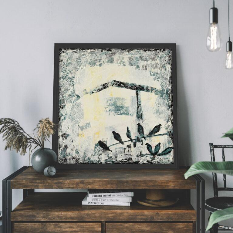 birdsmodern canvas wall art for sale by ron deri