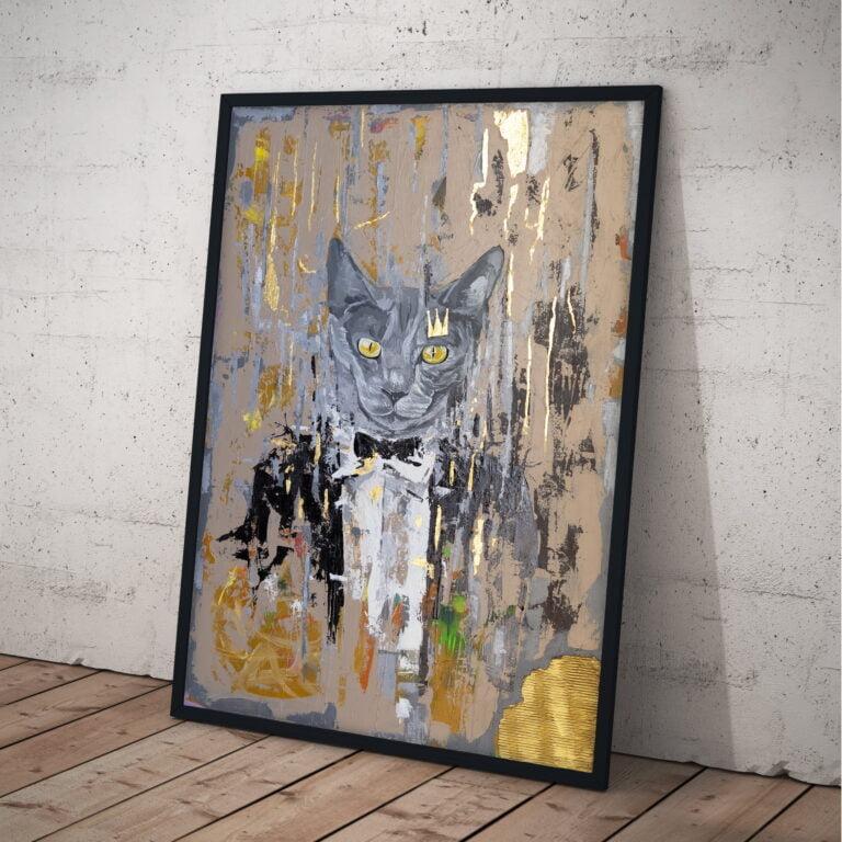 cat british fancy suit grey by ron deri