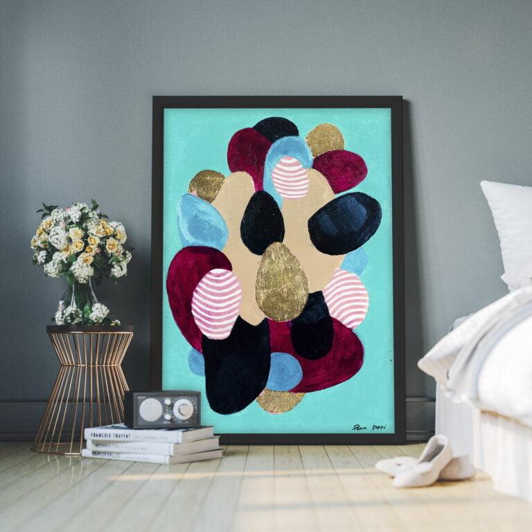 modern art blobs of color elipse by ron deri