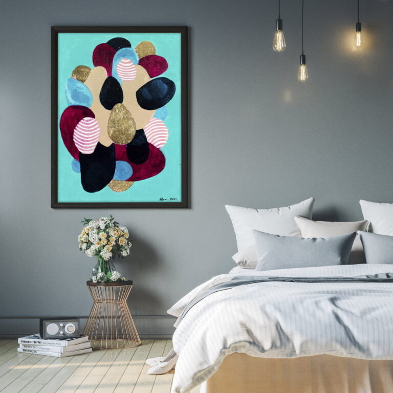 contemporary art for sale by ron deri - colourful shapes
