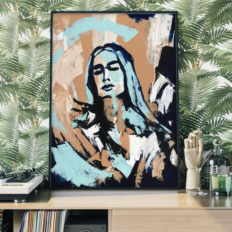 modern art face portrait by ron deri