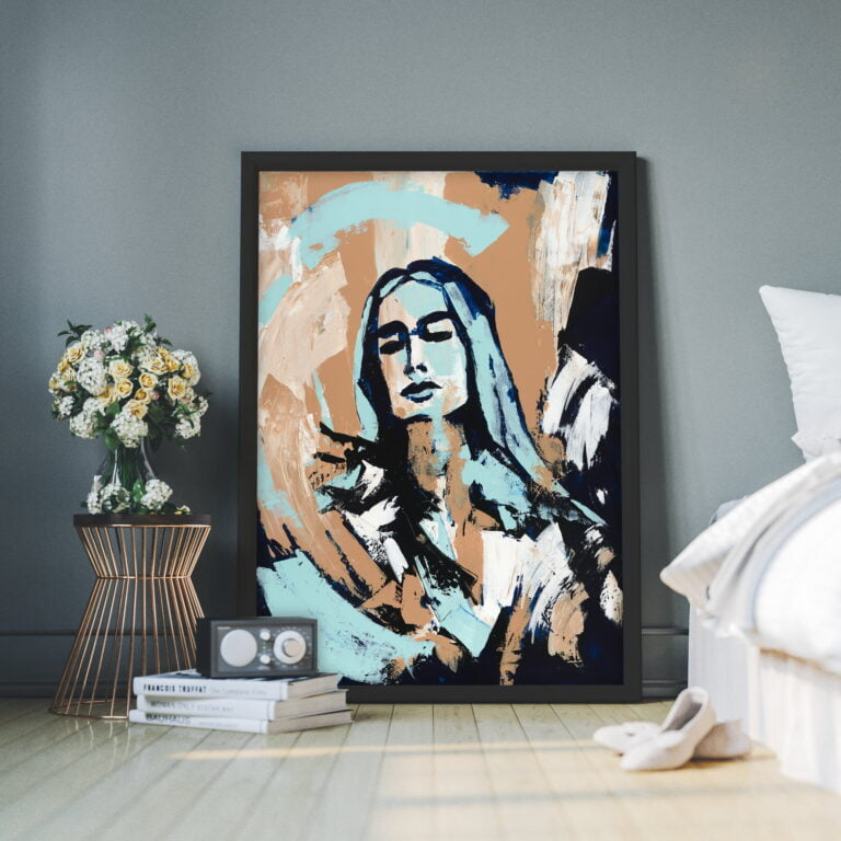 large canvas wall art face outline for sale by ron deri