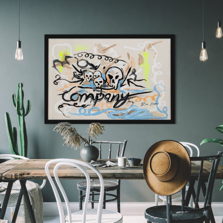 Contemporary art skulls canvas art print for home decor by ron deri