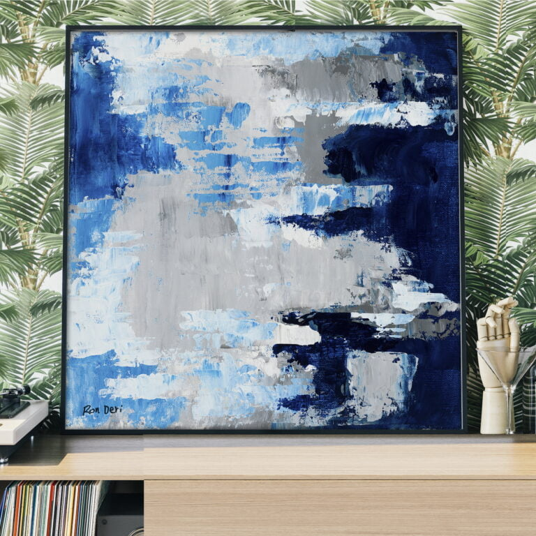sky clouds abstract canvas wall art for sale by ron deri
