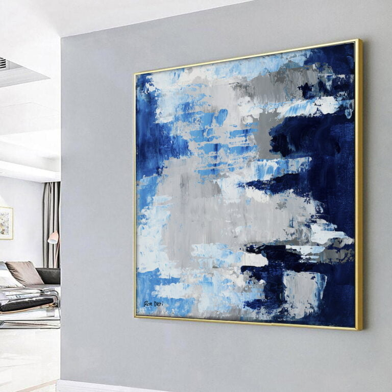 modern contemporary abstract sky clouds art by ron deri