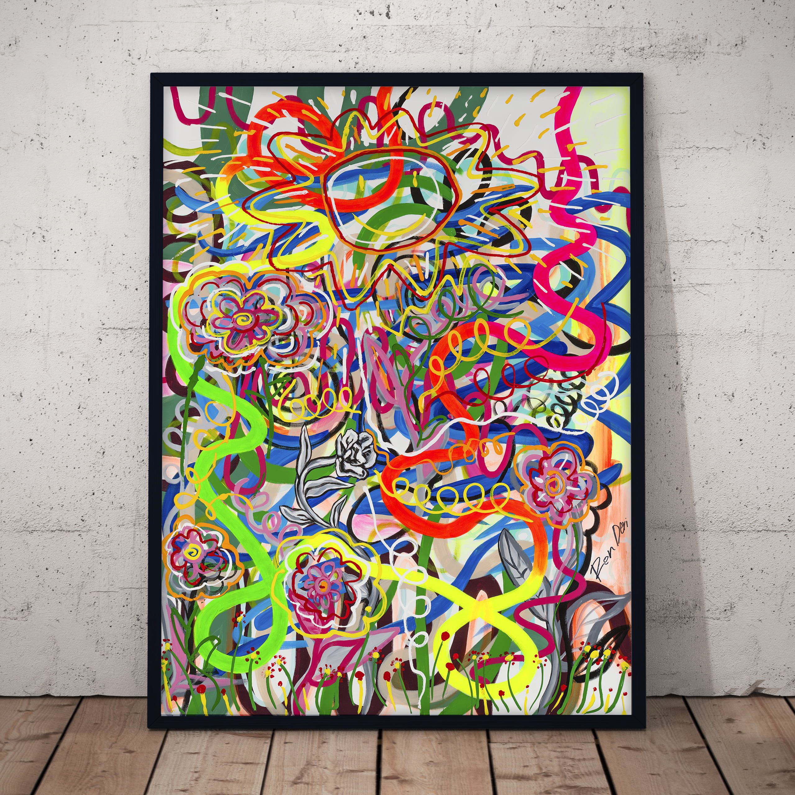 social-2-abstact-colorful-lines-wall-art-ron-deri-1