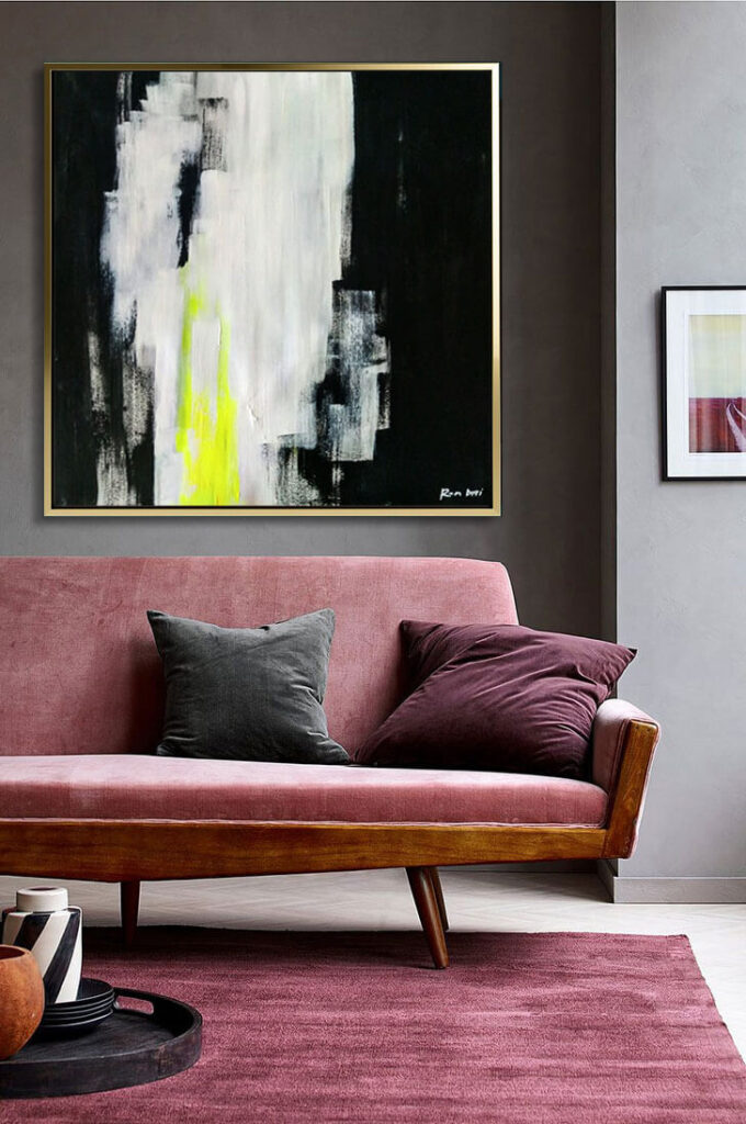 black_neon_painting_abstract_art_painting_on_canvas_large_wall_art_ron_deri