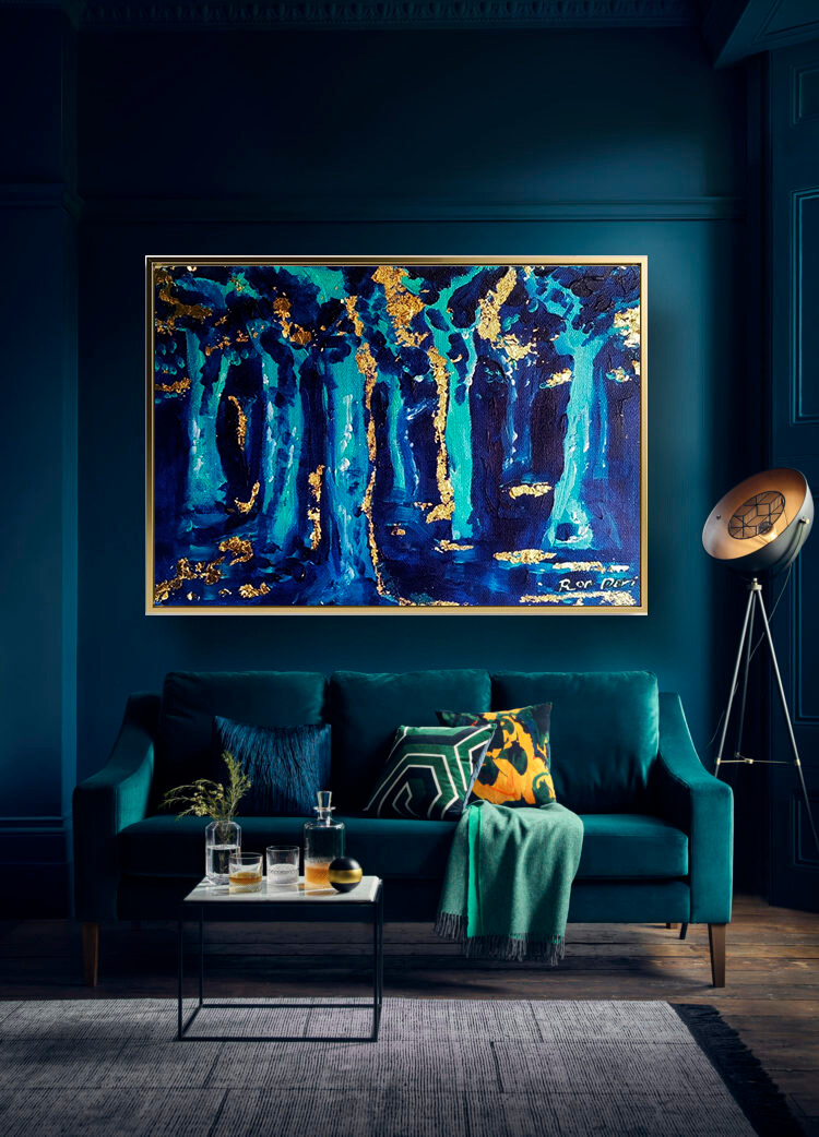 forest_trees_painting_blue_gold_abstract_art_painting_on_canvas_large_wall_art_ron_deri