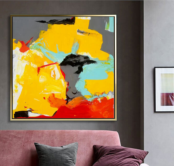 yellow_gray_abstract_art_painting_on_canvas_large_wall_art_ron_deri