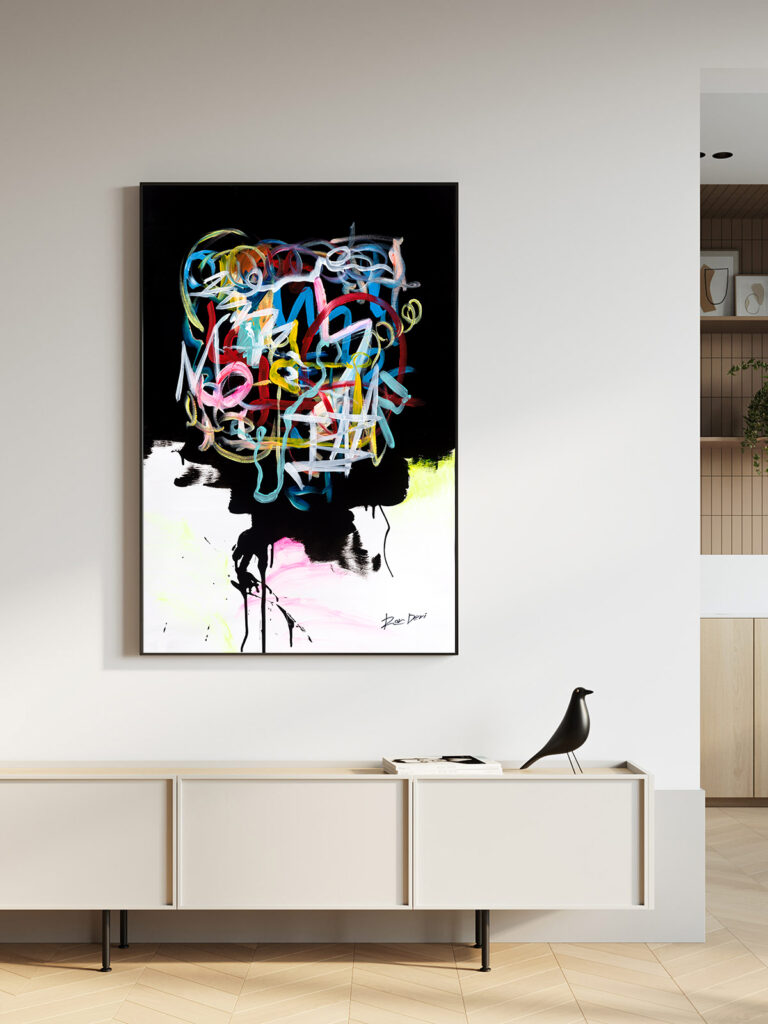 human-brain-ron-deri-art-abstract-modern-black-abstract