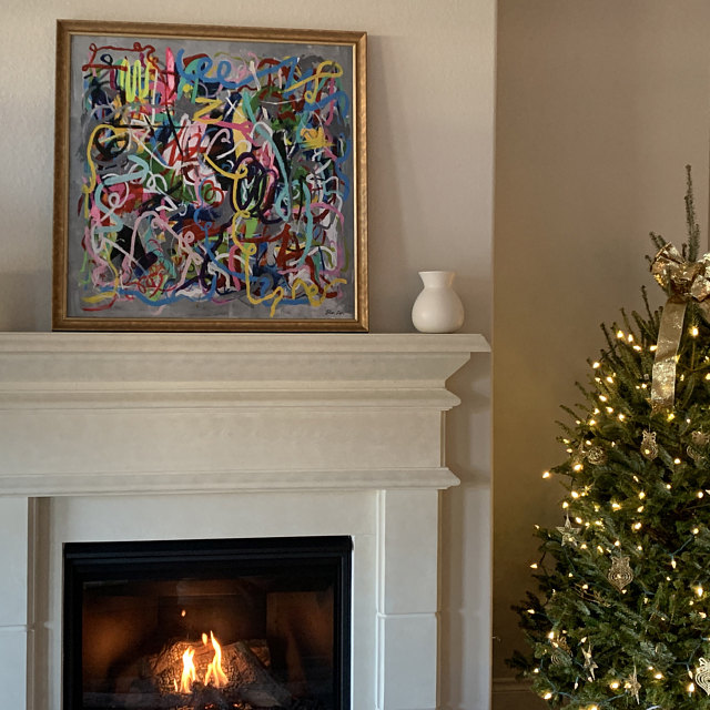 Fireplace_decor_art_gold_frame