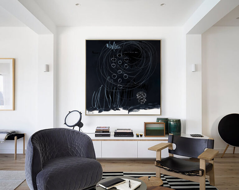 black-abstract-painting-modern-art-contemporary-ron-deri