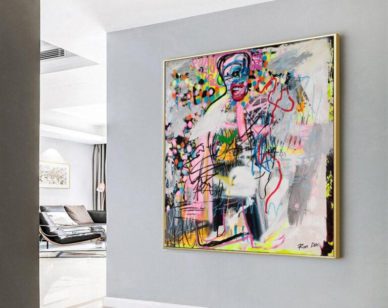 contemporary-art-face-painting-abstract-modern-art-realistic-wall-art-ron-deri